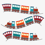 Travel by train concept icon Stock Photos