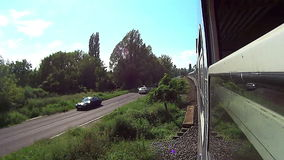Travel by train. In Hungary stock footage