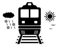 Travel on train isolated symbol Royalty Free Stock Photos