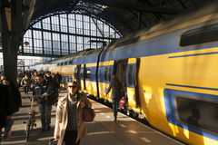 Travel by train to Amsterdam Royalty Free Stock Images