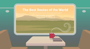 Travel by train. Web banner. Royalty Free Stock Photography