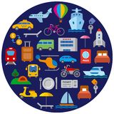 Travel and transport icon stock photography