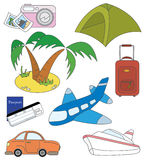 Travel and transport icons Royalty Free Stock Photography