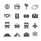 Travel & transport icons Royalty Free Stock Photo