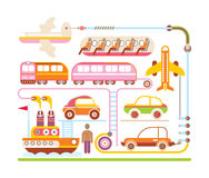 Travel & Transport -  illustration Royalty Free Stock Image