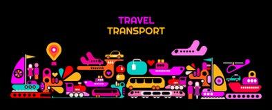 Travel Transport vector illustration Stock Photo