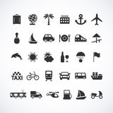 Travel and transport web icons Royalty Free Stock Images