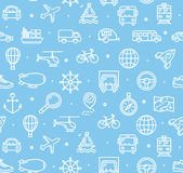 Travel and Transportation Background Pattern. Vector Royalty Free Stock Photos