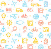 Travel and Transportation Background Pattern. Vector Royalty Free Stock Photography