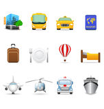 Travel and transportation icons Royalty Free Stock Photography