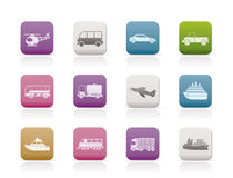 Travel and transportation icons Stock Photo