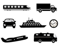 Travel, transportation icons Stock Photography