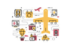 Travel and transportation Royalty Free Stock Images
