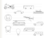 Travel and transportation of people icons Royalty Free Illustration