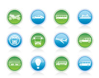 Travel and transportation of people icons Stock Images
