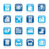 Travel, transportation and vacation icons. Vector icon set Royalty Free Stock Image
