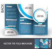 Travel Tri-Fold  Brochure Royalty Free Stock Photo