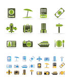 Travel, trip and holiday icons Stock Photography