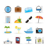 Travel, trip and tourism icons Royalty Free Stock Photo