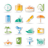 Travel, trip and tourism icons. Icon set Royalty Free Stock Image