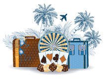 Travel tropical casino background Royalty Free Stock Photo