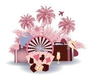 Travel tropical casino background Stock Photos