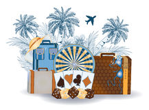 Travel tropical summer casino background Royalty Free Stock Image