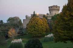 Castle of volterra stock photography