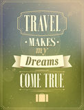 Travel typographic vintage design. Royalty Free Stock Image