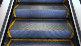 Travel up on Escalator m. Oving staircase stock video