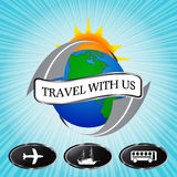 Travel with us Stock Image