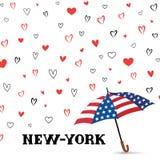 Travel USA background. Love New York City pattern. Heart background Stock Photo