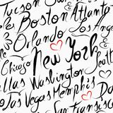 Travel USA destination cities seamless pattern Royalty Free Stock Photo