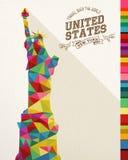 Travel USA landmark polygonal monument royalty free illustration
