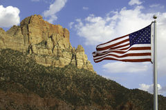 Stars and stripes. The stars and stripes in Zion National Park, Utah, USA Royalty Free Stock Photography