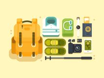 Travel or vacation accessories Stock Images
