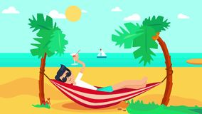 Travel In Vacation Animation stock footage