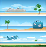 Travel vacation background Royalty Free Stock Photos