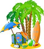 Travel vacation background,vector Stock Images