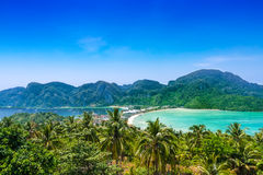 Travel vacation background - Phi-Phi island, Thailand Stock Photography