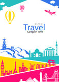 Travel and Vacation banner Royalty Free Stock Image