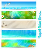 Travel and vacation banners Stock Photos