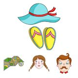 Family holiday related icon set Stock Photography