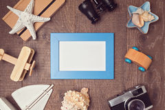 Travel and vacation concept background. View from above Stock Photography