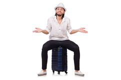 Travel vacation concept with luggage Royalty Free Stock Photo