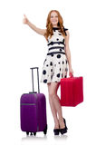 Travel vacation concept with luggage Royalty Free Stock Photography