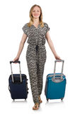 Travel vacation concept with luggage Royalty Free Stock Images