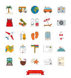 Travel and vacation filed line icons vector set Royalty Free Stock Photography