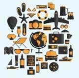 Travel vacation flat design set. Vector concept illustration. Tr Stock Images