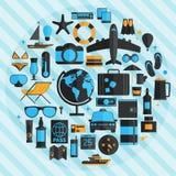 Travel vacation flat design set. Vector concept illustration. Tr Stock Image